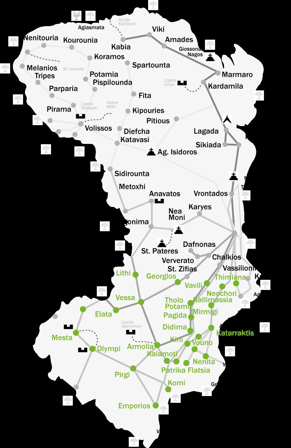 Mapa Chios, Grecja