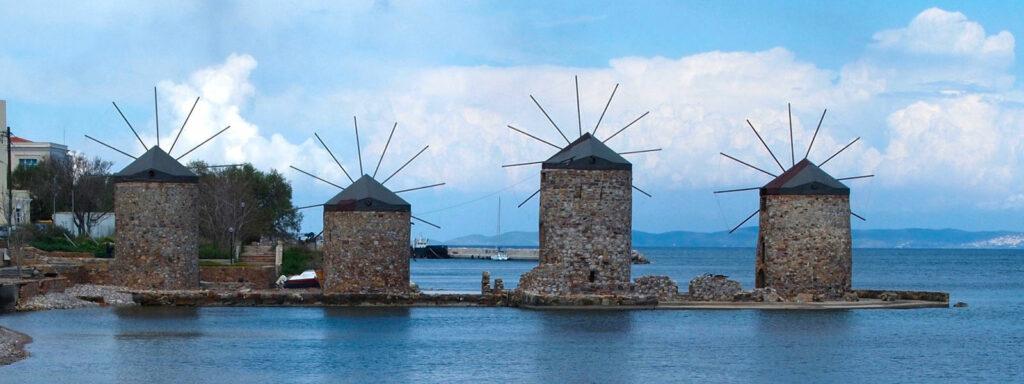 Chios, młyny